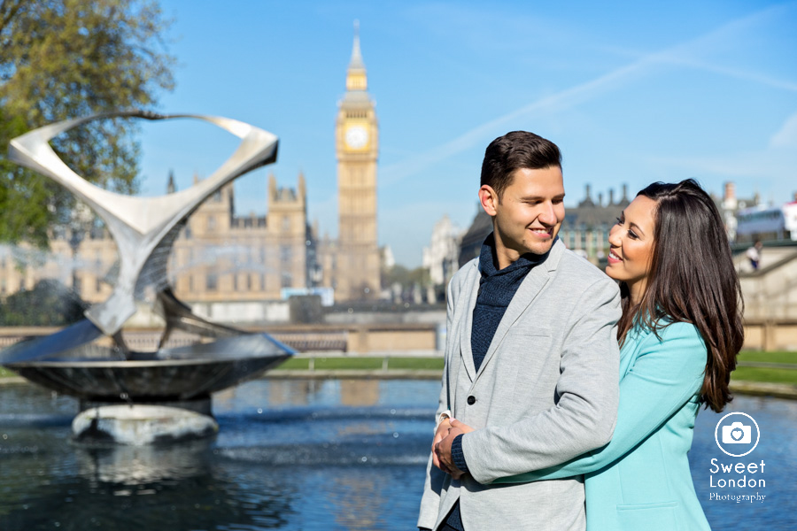 London Couple Photography - Big Ben London Eye and Trafalgar Square (11)