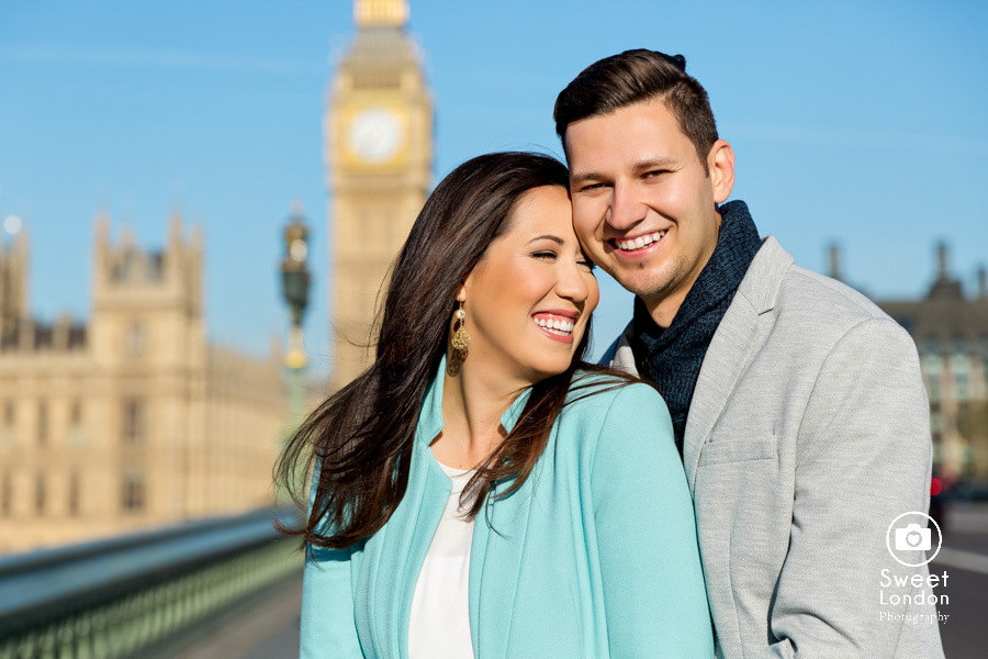 London Couple Photography - Big Ben London Eye and Trafalgar Square (17)