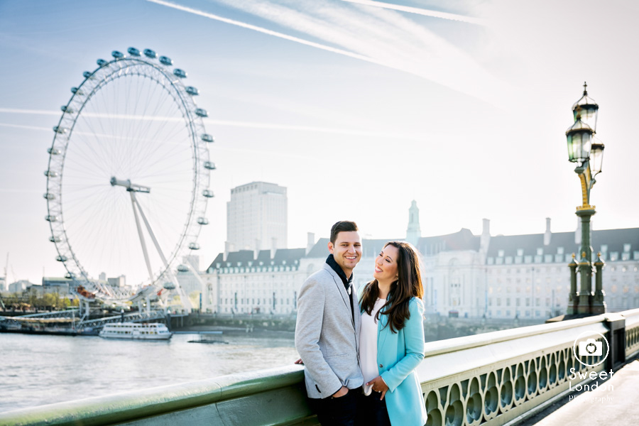 London Couple Photography - Big Ben London Eye and Trafalgar Square (2)
