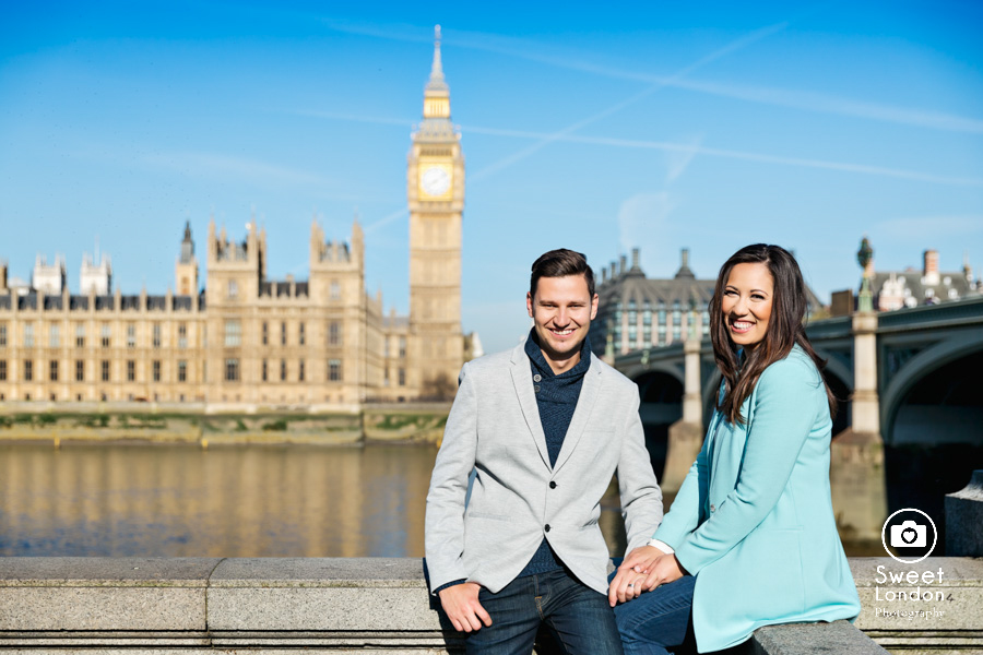 London Couple Photography - Big Ben London Eye and Trafalgar Square (22)