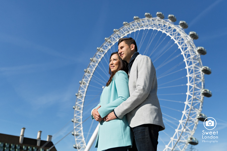 London Couple Photography - Big Ben London Eye and Trafalgar Square (4)