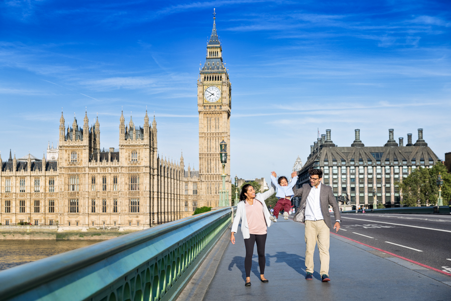 Southbank London Family Portrait Photographer - Big Ben and Tower Bridge (8)