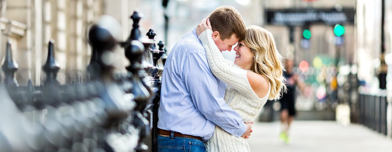 London Couple Photography featuring Big Ben and Trafalgar Square