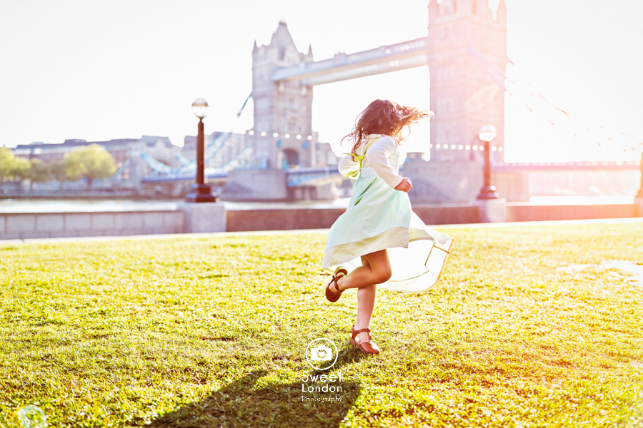 London Children Photography at Tower Bridge