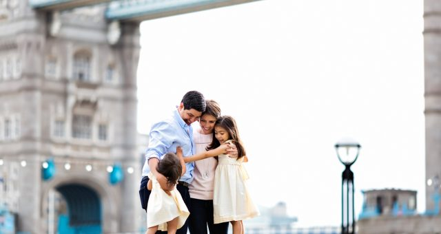 Family Holiday Photography at Tower Bridge and Big Ben