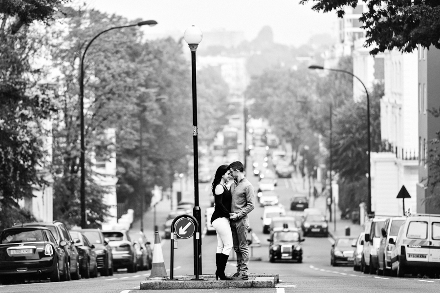 Romantic Notting Hill London Engagement Shoot