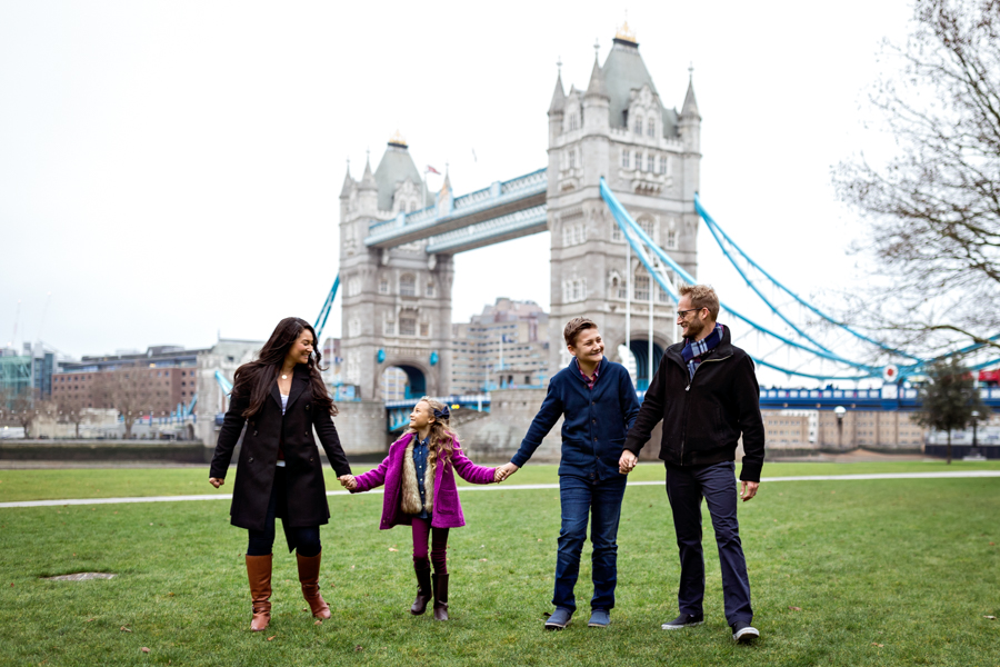 Urban Vacation Family Photography Session in London