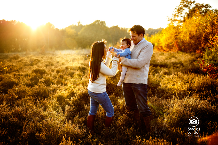 Autumn family photo shoot in Wimbledon, South-West London